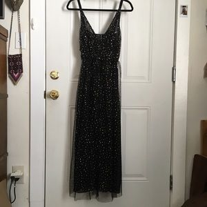 Zara Dresses - Zara Gold Polka Dot Tulle Dress. Size M.